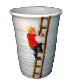 Copo Porcelana Cotidiano - Escada