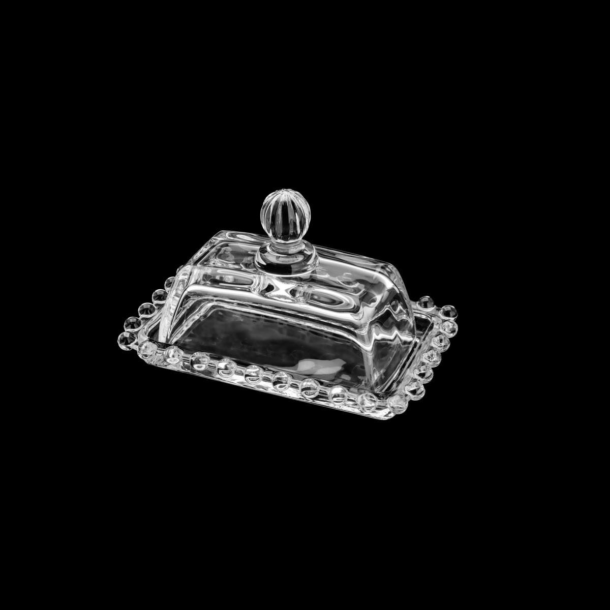 Manteigueira de Cristal Chumbo Pearl