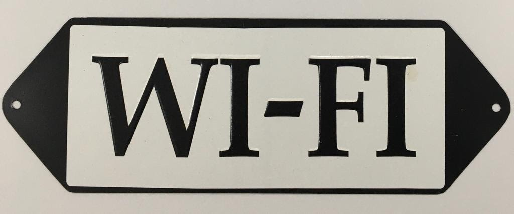 Placa Decorativa WI-FI