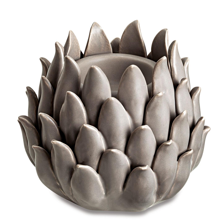 Porta Velas em Cerâmica - Conde Grey
