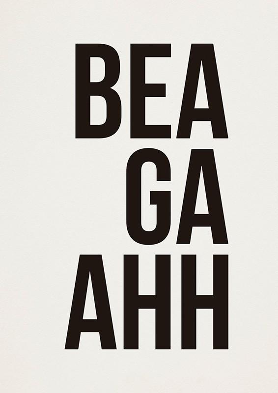Poster BEAGAAHH A2