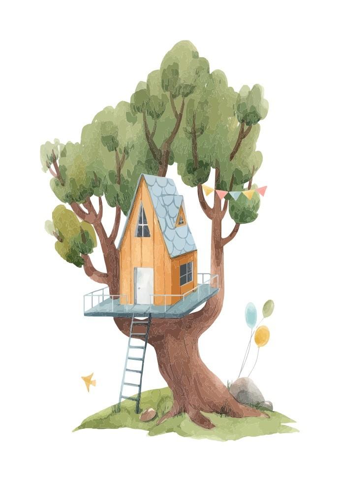 Pôster Casa na Árvore I
