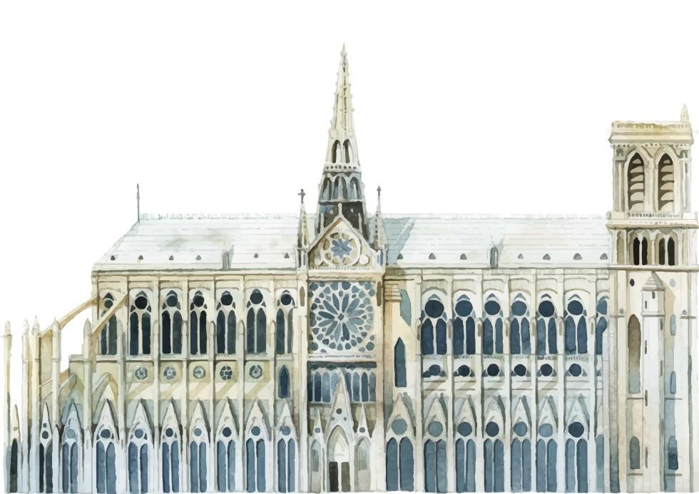 Pôster Catedral de Notre-Dame