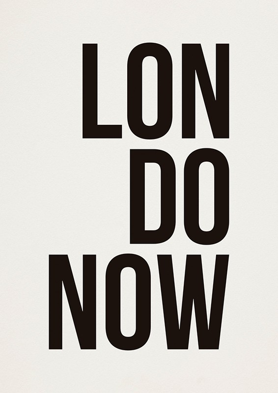 Poster LONDONOW A2