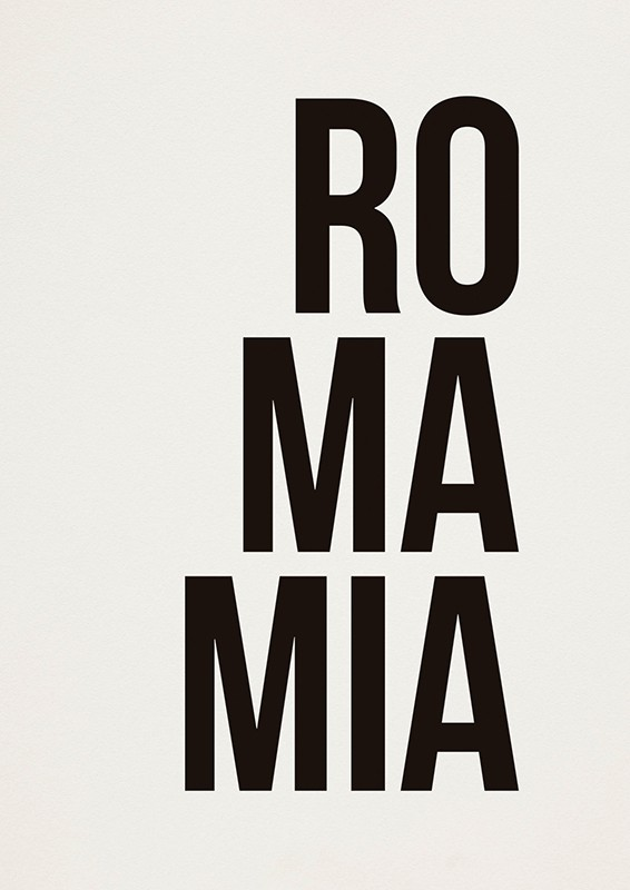 Poster ROMAMIA A2