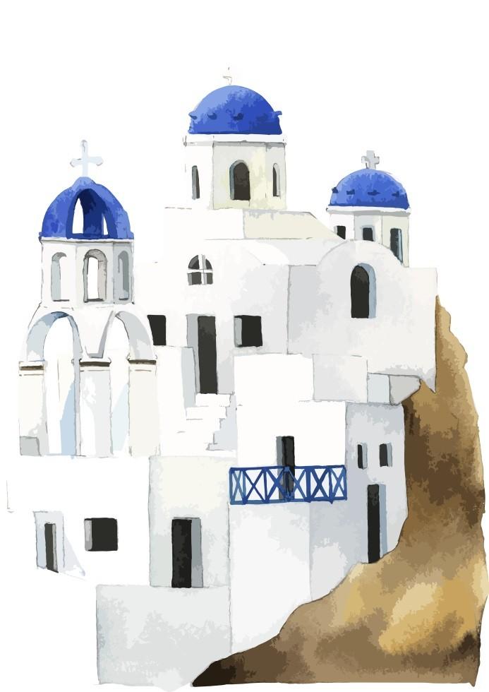 Pôster Santorini