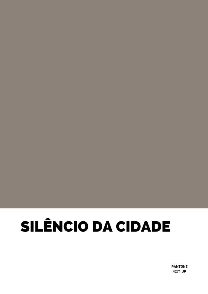 Pôster Silêncio da Cidade
