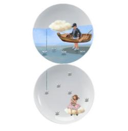 Prato decorativo - Pescador de Sonhos