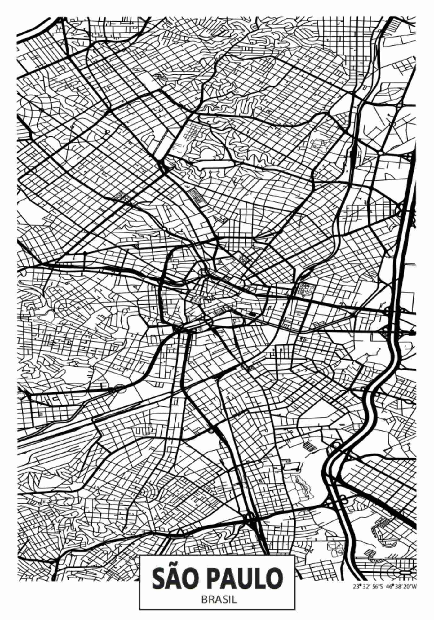 São Paulo Map