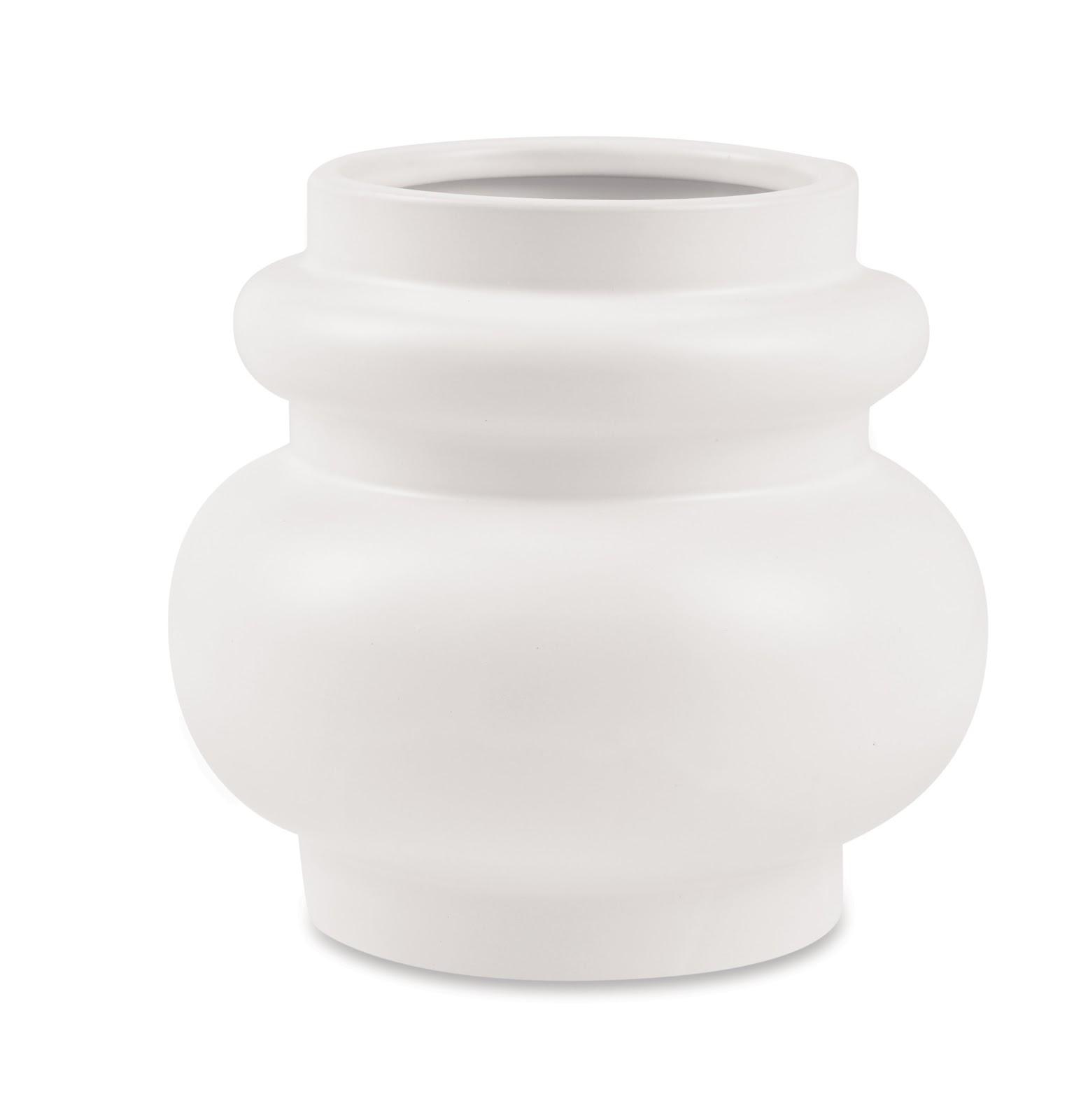 Vaso de Cerâmica Santorini Branco