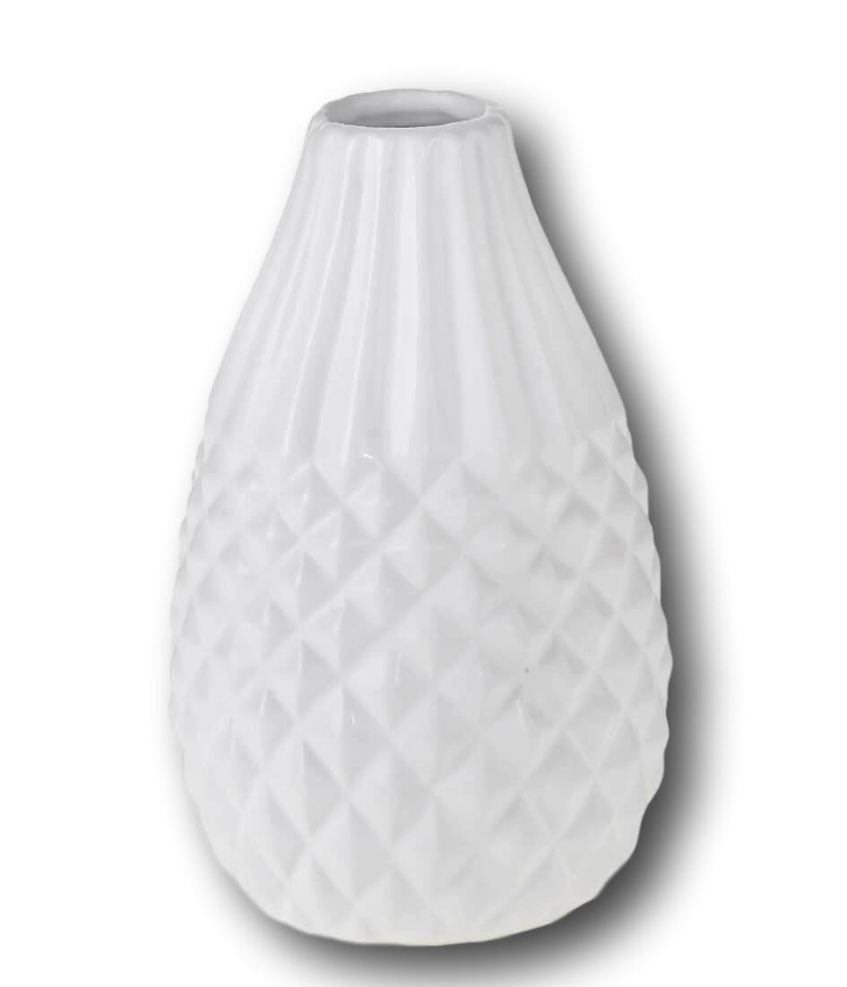 Vaso de Cerâmica Veneza - Branco