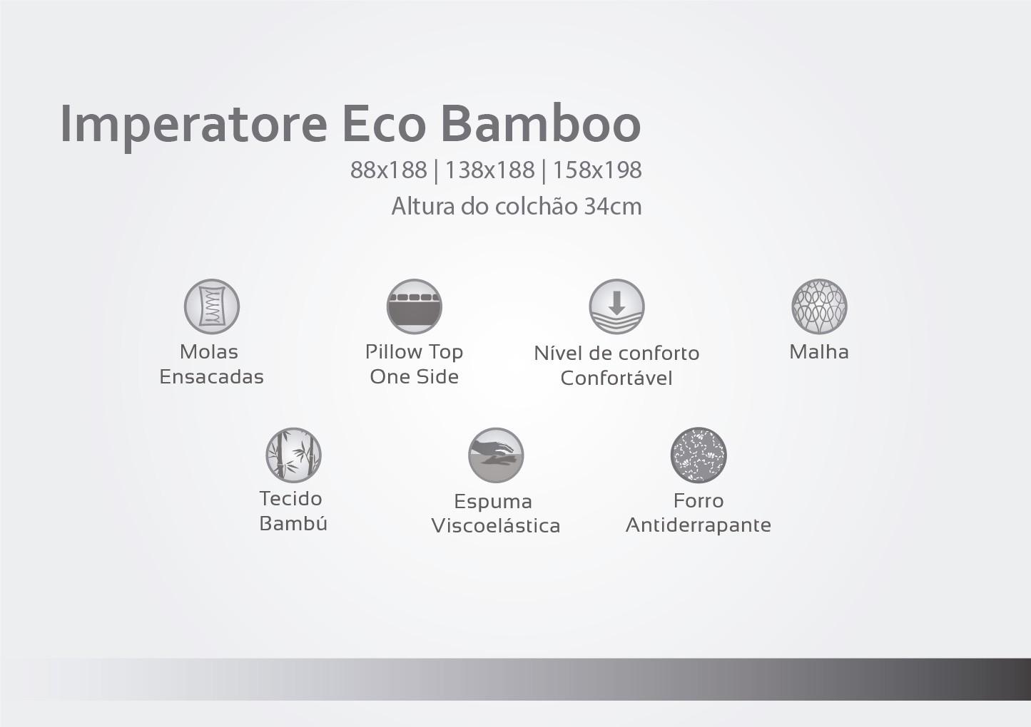 COLCHAO IMPERATORE HERVAL E BOX CASAL
