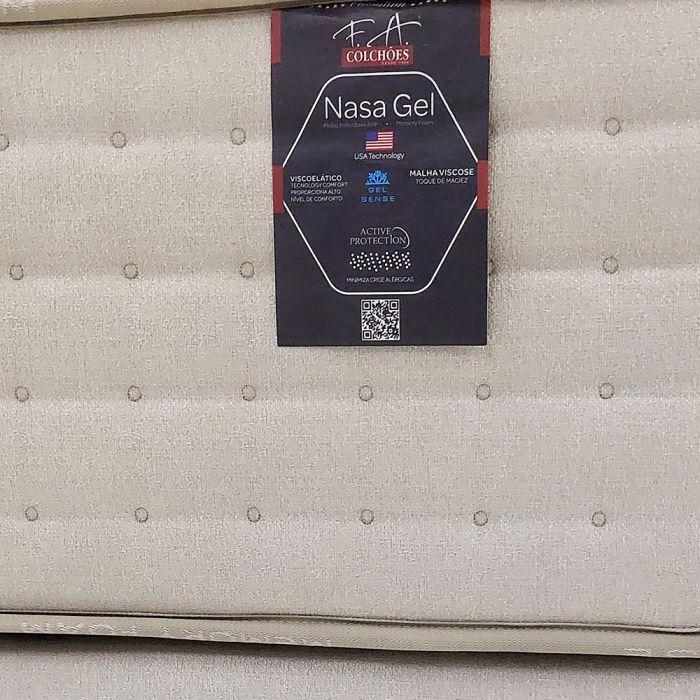 CONJUNTO: COLCHÃO MOLAS ENSACADAS NASA GEL FA + BOX QUEEN 1,58X1,98