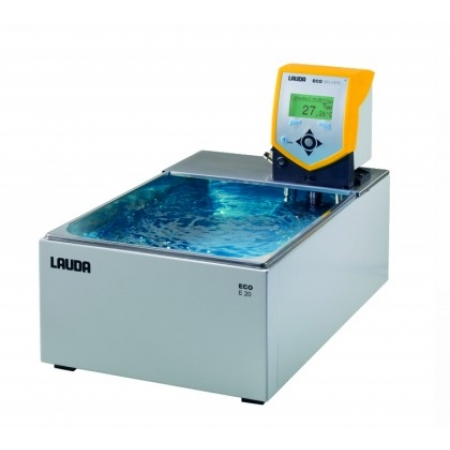 Banho termostático Eco Silver com cuba - 13 a 19 litros - LAUDA - Cód. E20S