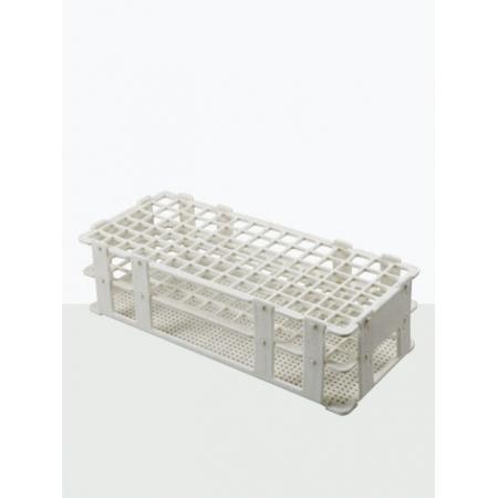 Estante para tubo de ensaio em PP capacidade 90 tubos de 13 mm- Laborglas - Cód. 9930113