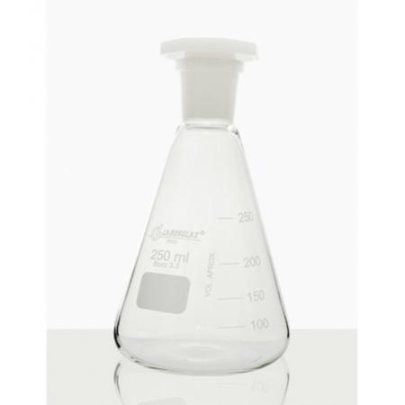 FRASCO ERLENMEYER C/ ROLHA POLI 500 ML - Laborglas - Cód. 91216442