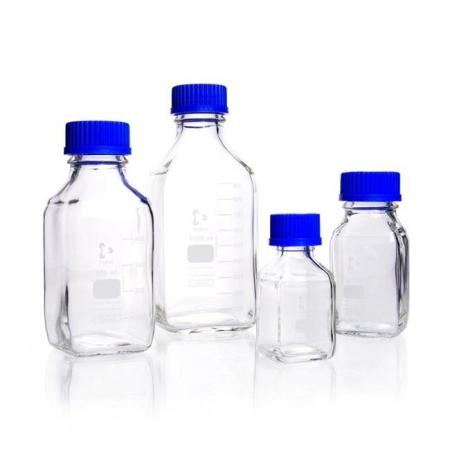 Frasco Quadrado Tampa Azul 500 ml - Schott - Cód. 21820445