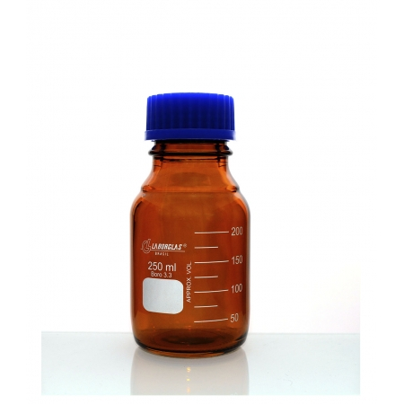 Frasco Reagente Âmbar com Rosca e Tampa GL 45 de 500 mL - Laborglas - 91806445