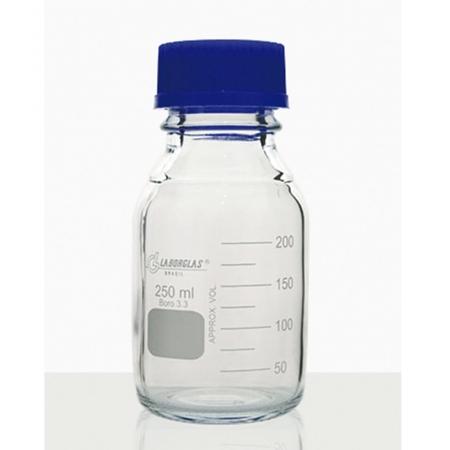 Frasco Reagente com Rosca e Tampa GL 45 de 250 mL - Laborglas - 91801365