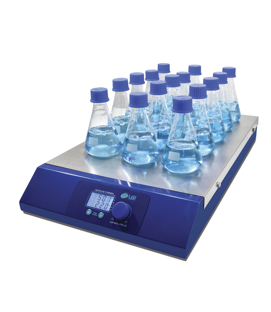 AGITADOR MAGNETICO MULTIPOSICAO COM AQUECIMENTO 15 - LGI SCIENTIFIC - Cód. LGI-MSH-PRO-15B