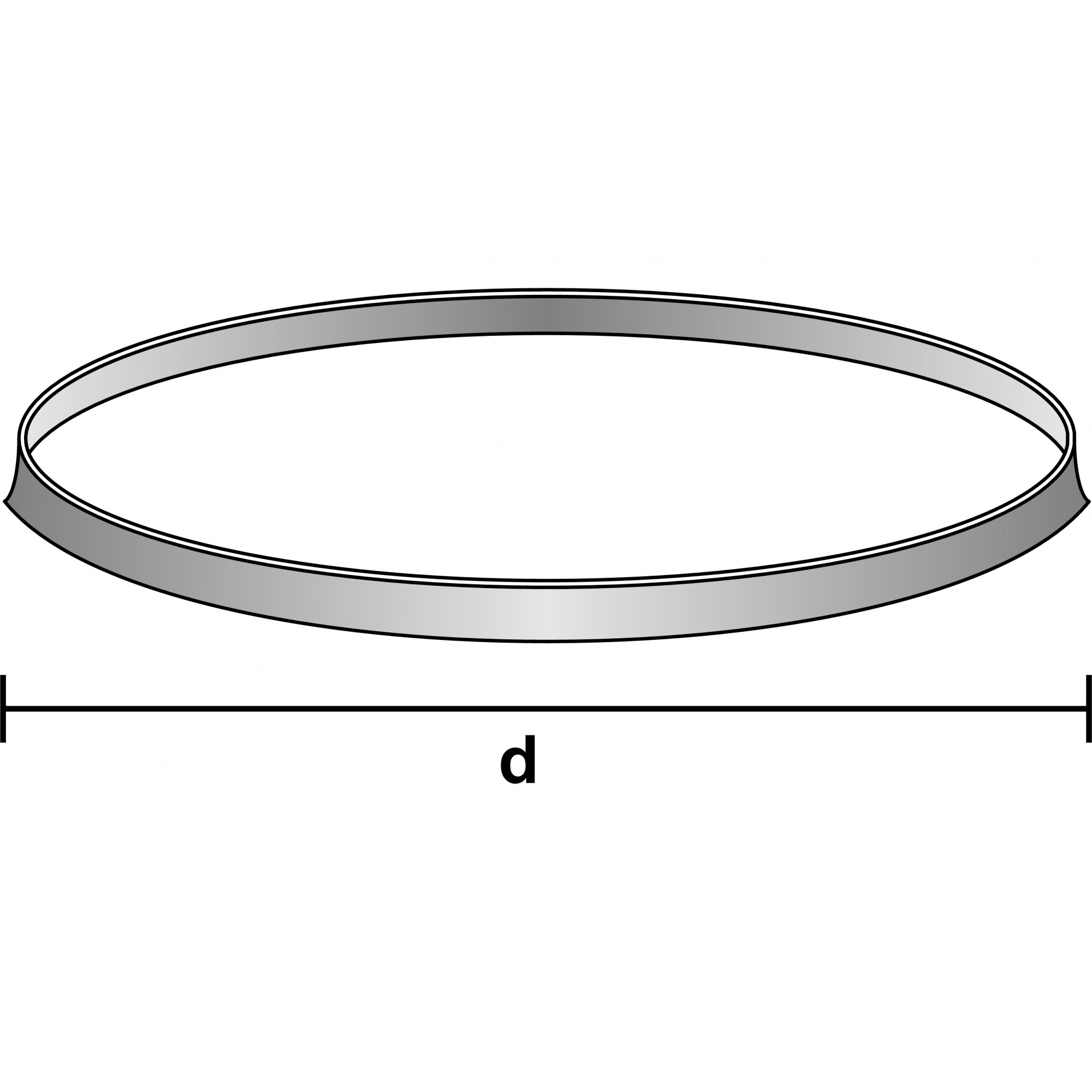 ANEL ORING EM POLIPROPILENO AMARELO GL 45 - Laborglas - Cód. 9924428