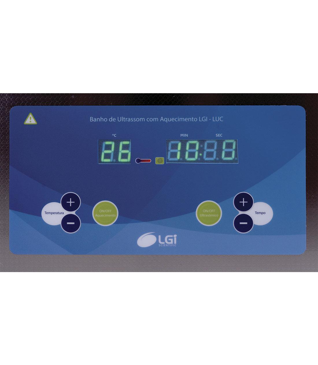 BANHO DE ULTRASOM 30 L - LGI SCIENTIFIC - Cód. LGI-LUC-600