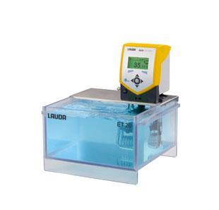 Banho termostático Eco Gold com cuba transparente - 9,5 a 12 litros - LAUDA - Cód. ET12G