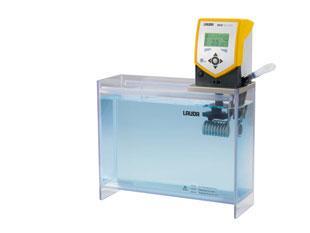 Banho termostático Eco Silver com cuba transparente - 15 litros - LAUDA - Cód. ET15S
