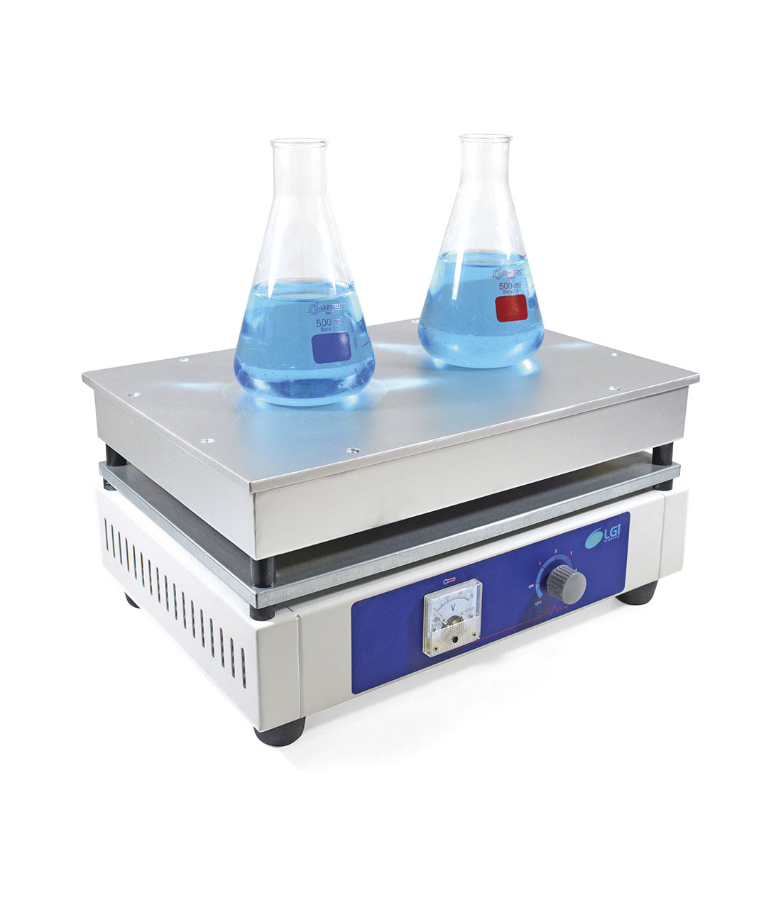CHAPA AQUECEDORA ANALOGICA 40 X 28 CM - LGI SCIENTIFIC - Cód. LGI-HP-1.5