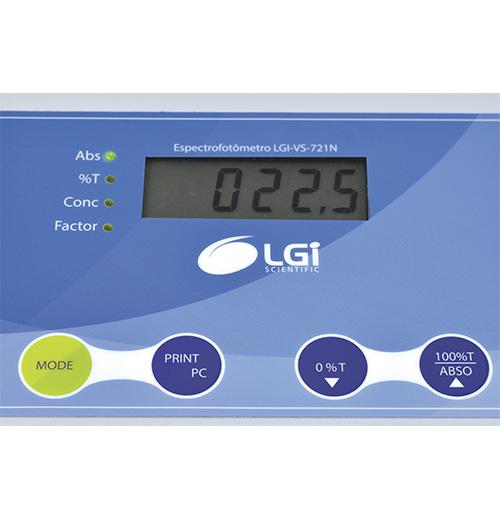ESPECTROFOTOMETRO - LGI SCIENTIFIC - Cód. LGI-VS-721N