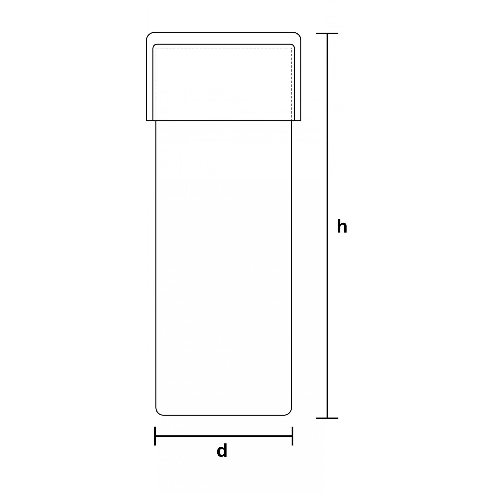 FRASCO BOREL COM TAMPA 40 X 100 MM - Laborglas - Cód. 9320840