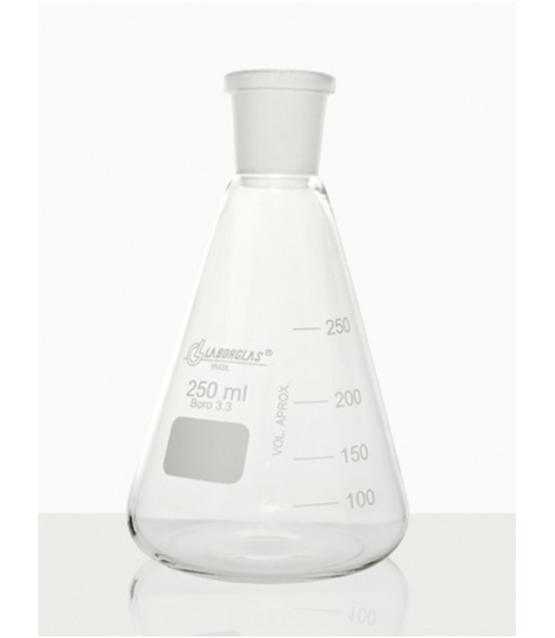 FRASCO ERLENMEYER C/ JUNTA ESM. 500 ML - Laborglas - Cód. 91216441