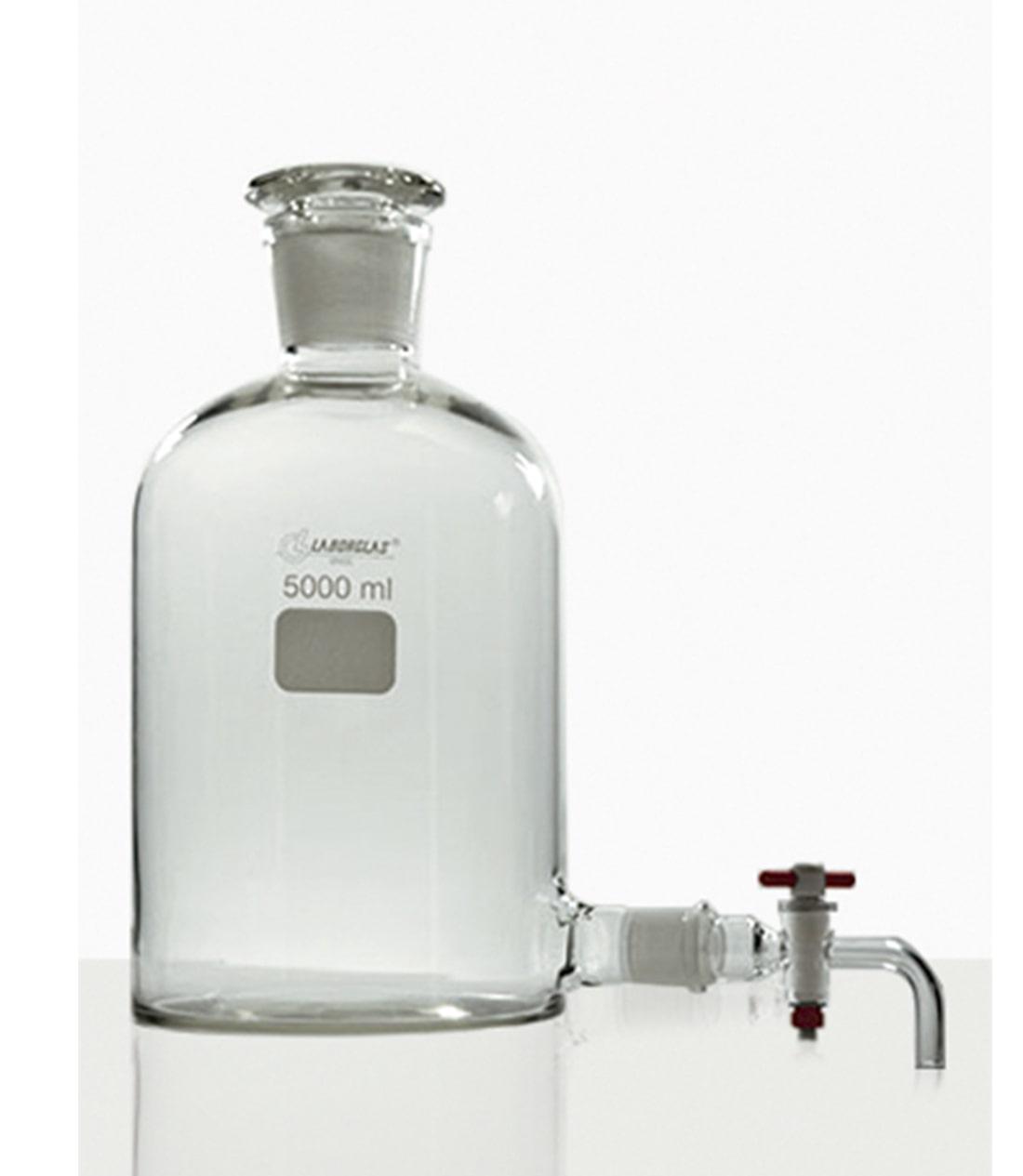FRASCO MARIOTTE C/ TORN. PTFE 500 ML - Laborglas - Cód. 9470344