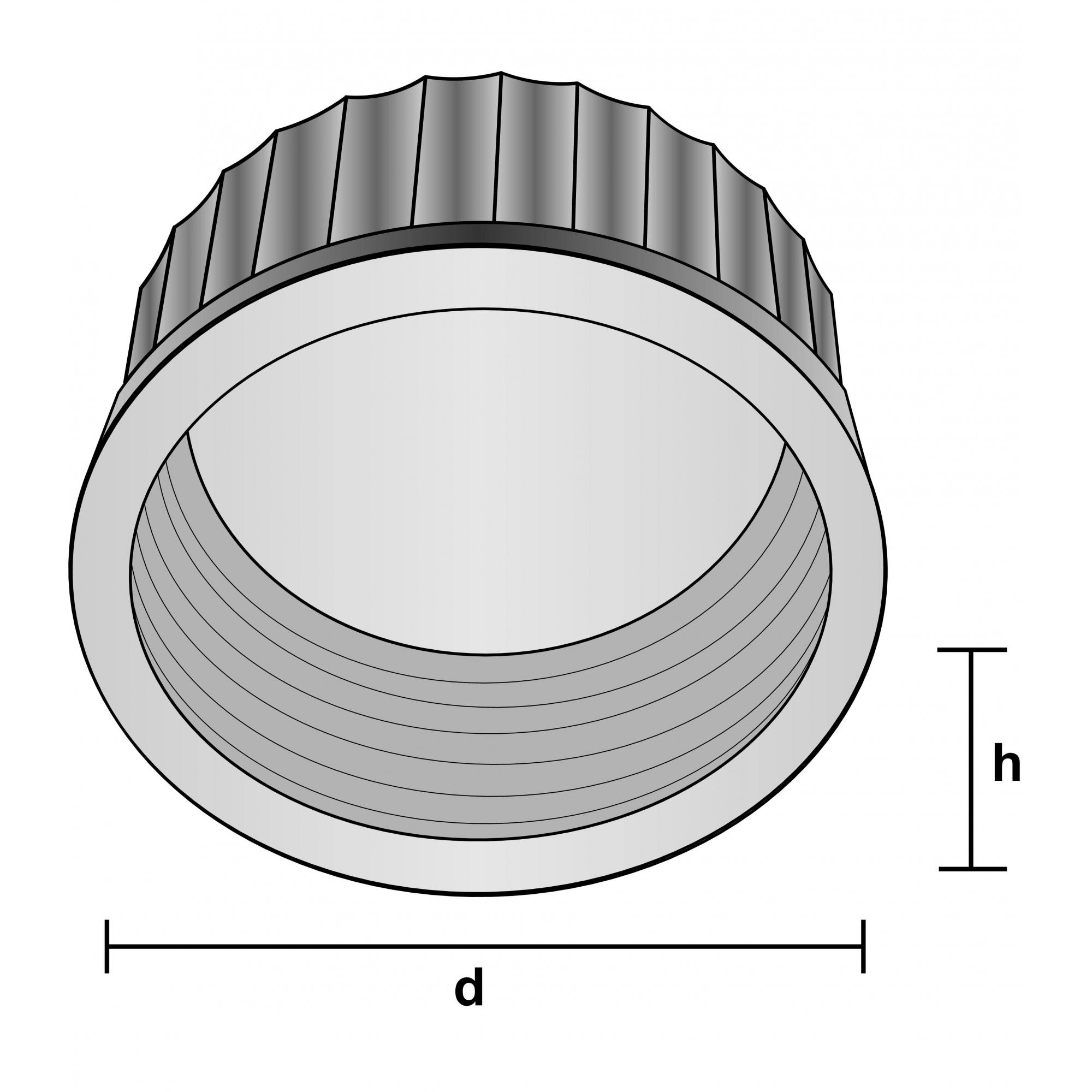TAMPA ROSCA LISA C/ SEPTO VERDE GL 45 - Laborglas - Cód. 9954828