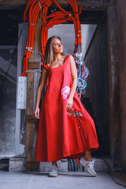 Vestido Iris Terracota