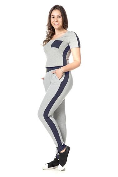 Conjunto homewear kelly marinho mescla