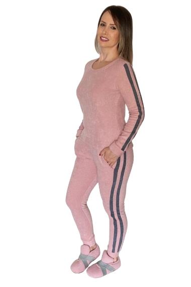 Conjunto pijama homewear  rosa grafite michele