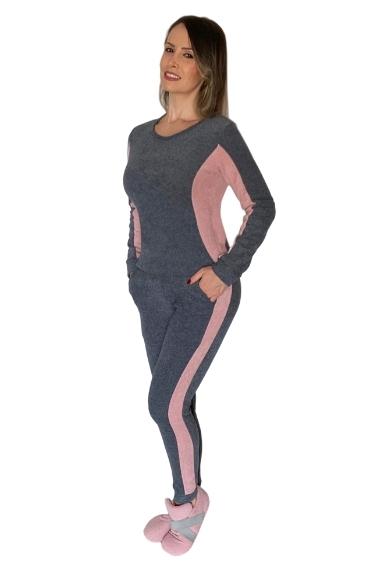 Conjunto homewear rosa grafite patricia