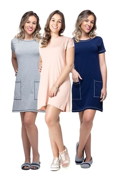 Kit  3 vestidos Homewear
