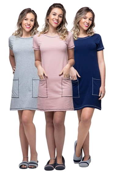 Kit com 3  vestidos Homewear