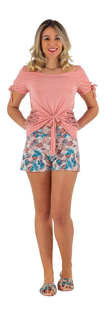 Short doll floral lacinho