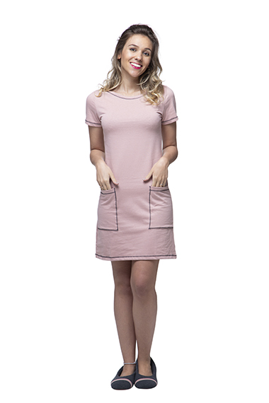 Vestido homewear amanda rosa v