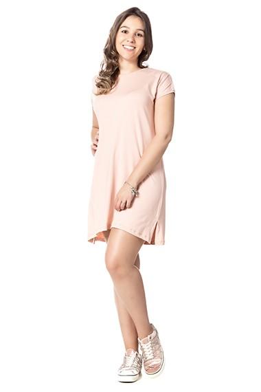 Vestido Homewear Dani rosa algodão doce