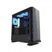 GABINETE GAMER K-MEX CG-7EV3 GALAXY 3 FANS LED AZUL USB 3.0 FRENTE/LATERAL ACRILICO