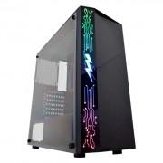 GABINETE GAMER K-MEX RAIDEN PAINEL RGB, SEM FONTE ? CG-11A8