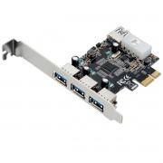 PLACA PCI MULTILASER EXPRESS USB 3.0 COM 3 PORTAS FRONTAIS + 1 PORTA TRASEIRA - GA130