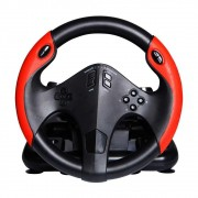 VOLANTE GAMER MULTILASER COM MARCHA E PEDAL MULTIPLATAFORMA PS4, PS3, XBOX ONE, PC JS087 - MULTILASER