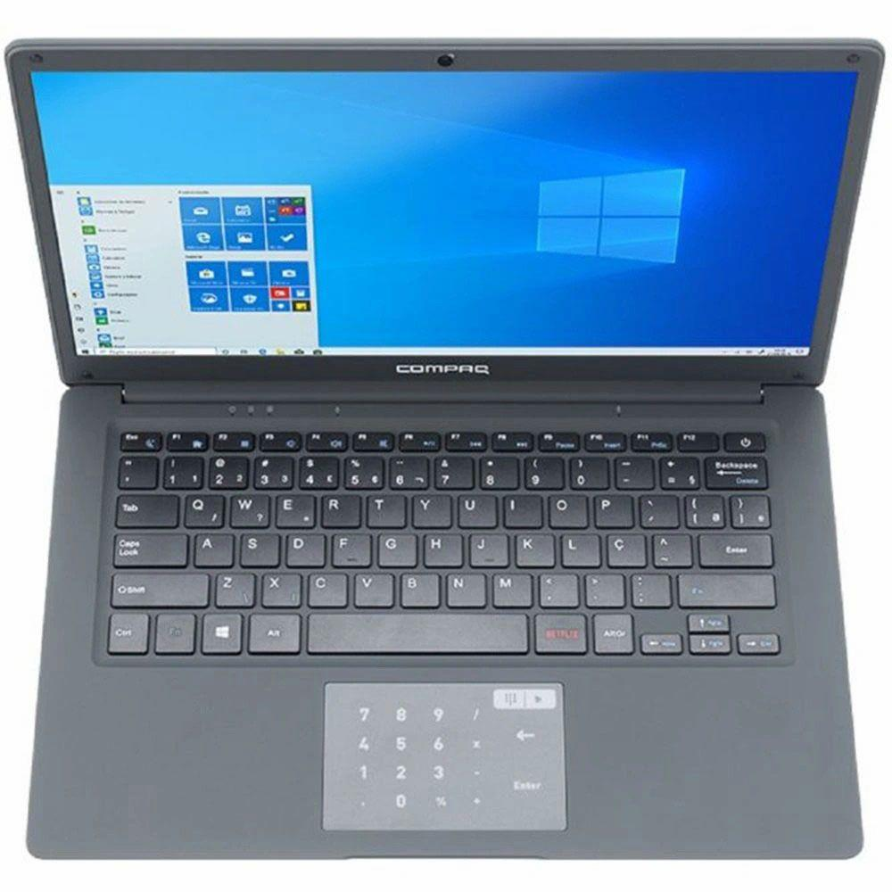 Compaq Presario CQ-25 Intel Pentium 4GB 120GB SSD 14'' Windows 10 - Cinza