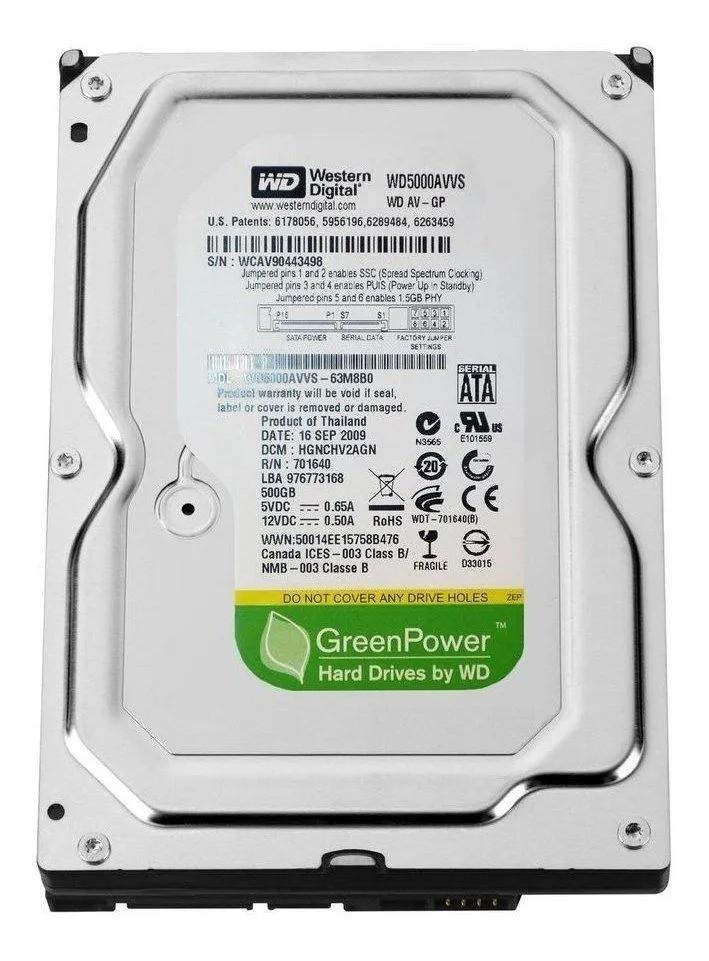 HD INTERNO WESTERN DIGITAL WD GREEN POWER WD5000AVVS 500GB