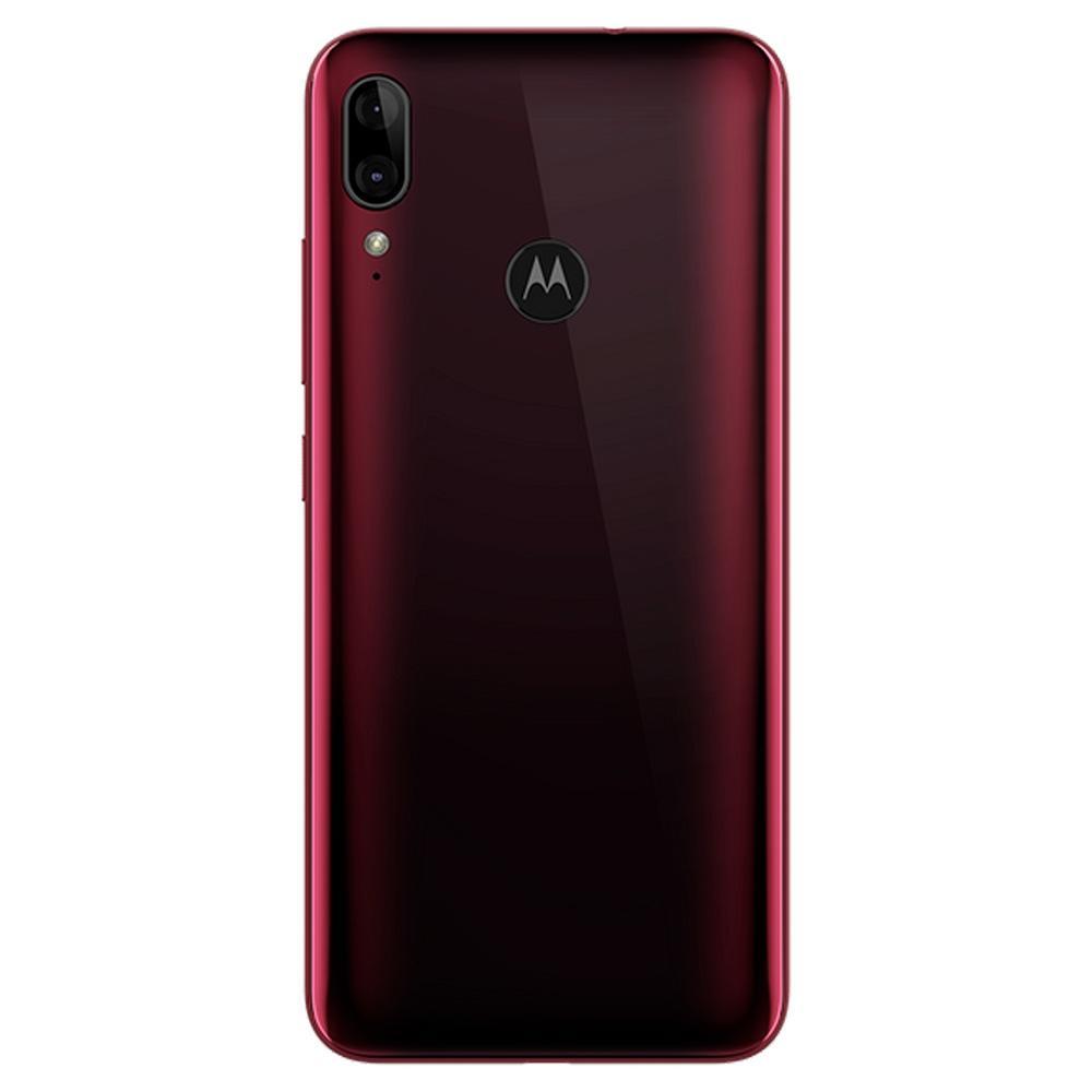 SMARTPHONE MOTOROLA MOTO E6 PLUS, 64GB, 13MP, TELA 6.1´, RUBI + CAPA PROTETORA - XT2025-1